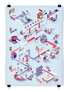 For this article in the international artist series, we turn to the Netherlands, featuring six illustrators and designers who create fantastic work, from illustration to graphic design and more! Map Design, Vector Design, Layout Design, Graphic Design, Isometric Art, Isometric Design, Flat Illustration, Digital Illustration, Art Isométrique
