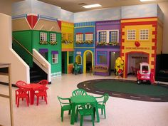 They had a little town like this at the preschool I went to!!