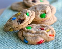 M & M, chocolate chip cookies