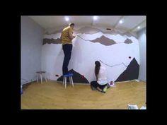 Mountain mural - YouTube
