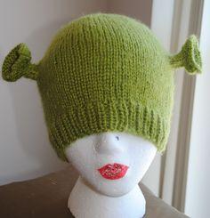 Shrek knit hat pattern-free