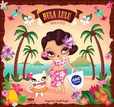 Fluff has created a new product line for ABC Stores. Hula Lulu (pictured) for the Hawaii Stores and Starletta for the Las Vegas Stores. These designs are created by the fabulous Miss Fluff Claudette Barjoud and are exclusive only to them. Hula Lulu just started selling and Starletta will hit Vegas any day now. (Aug 8, 2010)
