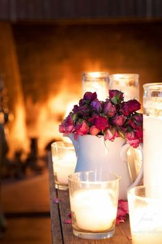 Romantic Shabby Chic Beauty ~ Candlelight ~ Warm Fireplace ~ Roses ~♡~