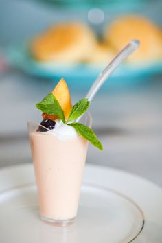 Mini Peach Parfaits! Food Photography by Tiffany Anderson. See more at DesignLovesDetail.com