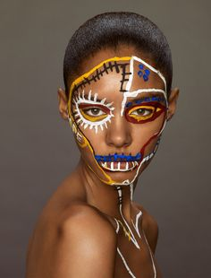 Visagie: Makeup: Topolino Erwin Olaf Studies 'Les Beaux Arts' for Vogue Netherlands, 2014