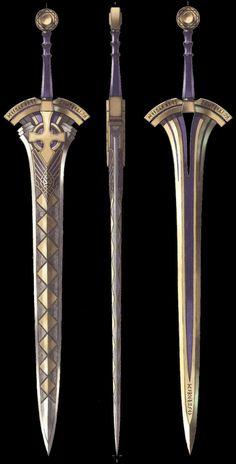 Fantasy Blade, Fantasy Sword, Fantasy Armor, Fantasy Weapons, Anime Weapons, Weapons Guns, Swords And Daggers, Knives And Swords, Katana