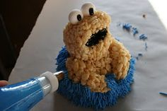 The Evolution of Me: Cookie Monster Cake for my little cookie monster!!
