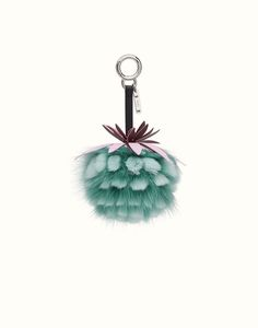 FENDI FRUITS CHARM - Charm in green fur. Discover the new collections on Fendi official website. Ref: 7AR577OZEF09GV