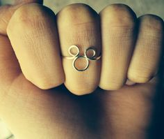 Mickey and Minnie Mouse Disney Children Inspired Silver Wire Wrapped Ring or Knuckle Ring Wire Jewellery Cheap Gifts on Etsy, $6.17 CAD