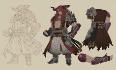Parai Concept from Final Fantasy Dimensions II