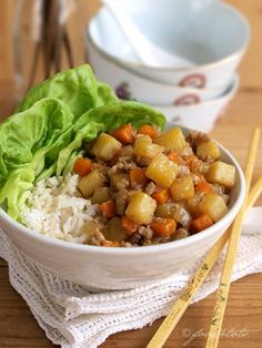 Minced Pork with Carrots and Potatoes