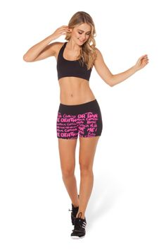 Highlighter Black Smack Downs 2.0 - LIMITED › Black Milk Clothing Size S to workout