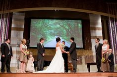 Ok so we have a projector screen at our church, may have put a pretty picture up for the ceremony Wedding Stuff, Dream Wedding, Wedding Events, Weddings, Church Wedding Decorations, Tiffany Wedding, Wedding Inspiration, Wedding Ideas, Pretty Pictures