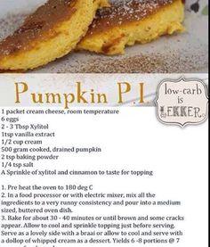 Pumpkin pie Banting style