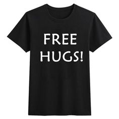 S-3XL FREE HUGS Inspirited Tshirt SP166308