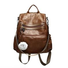 2d101a8041 DIZHIGE Brand Vintage Pu Leather Backpack