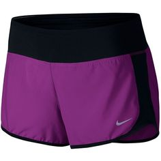 Women's Nike Crew Running Shorts ($31) ❤ liked on Polyvore featuring activewear, activewear shorts, purple oth, nike activewear, nike sportswear and nike