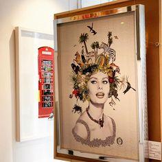 "For Arts Sake on Instagram: ""Icons - - - #printmaking #mariarivans #gregorisaavedra #phonebox #sophialoren #redphonebox #londonicons #hollywoodicon #goldenage…"""