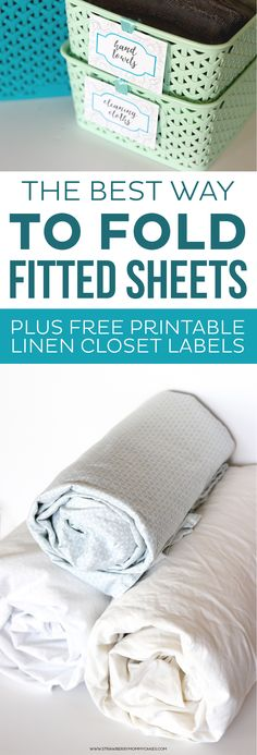 ant to learn the BEST Way to Fold Fitted Sheets? Here's a hint...YOU DON'T!