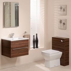 600 Walnut Back To Wall Square Toilet & Wall Hung Basin Bathroom Furniture Suite Wall Hung Bathroom Cabinet, Wooden Bathroom, Bathroom Ideas, Loft Bathroom, Bathroom Marble, Wall Cabinets, Bathroom Cabinets, Bathroom Inspiration, Space Saving Bathroom