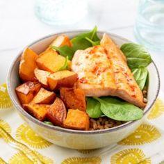 Salmon & Sweet Potato Buddha Bowls - EatingWell.com