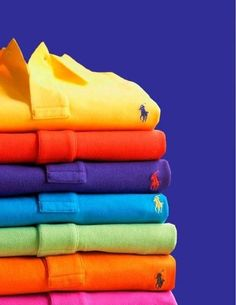 Polo party. Ralph Lauren in every Color! Don't be afraid to experiment with colors. Even if it is Fall, try colors that pop. Seeing people that wear noticeable colors during a gloomy day, make my day.