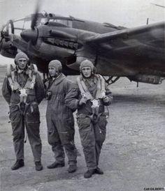 German Heinkel 111 crew poses.