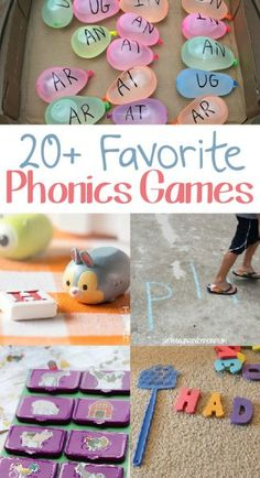 Kids Phonics Games make learning how to read easy and fun! Check out this huge list of some of our favorite phonics games for kids. Phonics Games For Kids, Reading Games For Kids, Preschool Phonics, Literacy Games, Kindergarten Games, Games For Toddlers, Preschool Activities, English Games For Kids, Literacy Centers