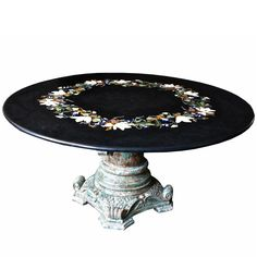 Large Italian Pietra Dura Centre Table, Late 19th Century | From a unique collection of antique and modern center tables at https://www.1stdibs.com/furniture/tables/center-tables/