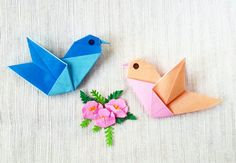 Origami little birds Designed by Carlos Bocanegra Folded by Majomajo