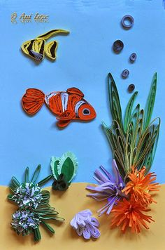 1000 images about quilling abstract reefs on pinterest for Big quilling designs