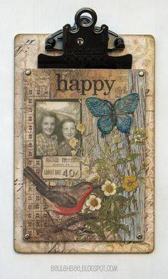 Beulah Bee: Mini Clipboard Happy