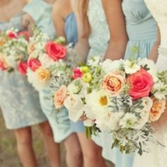 Bridesmaid Dresses and Flowers