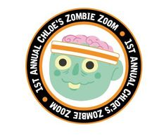 Halloween Zombie logo design for Annual Chloe's Zombie Zoom by The Logo Boutique Zombie Logo, Round Logo, Round Design, Chloe, Halloween Zombie, Logo Design, Boutique, Boutiques