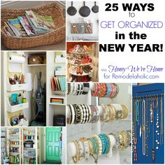 Remodelaholic | 25 Ways to Get Organized in the New Year