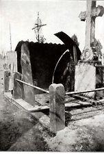 Deutsche Unterstaende auf dem Zivilfriedhof in Bapaume WW I