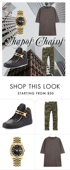 """""""harambe"""" by nikos-sourgkounis on Polyvore featuring Giuseppe Zanotti, Hollister Co., Rolex, adidas, men's fashion and menswear"""