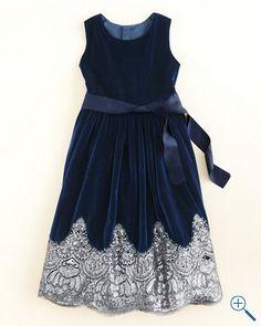 Bejeweled Velvet Dress by Isabel Garreton - Girls