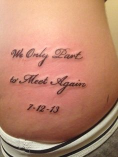 we only part to meet again font