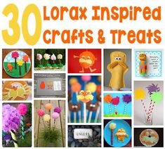 30 Lorax Crafts and Treats - If your kids, or you, are a fan of Dr. Seuss' Lorax, check out this collection of fun Lorax related crafts and snacks you can make. (http://aboutfamilycrafts.com/30-lorax-crafts-and-treats/)