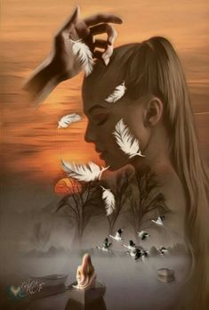 Beautiful Love Pictures, Beautiful Gif, Love Images, Art Images, Gothic Fantasy Art, Fantasy Artwork, Transférer Des Photos, Montage Photo, Illusion Art