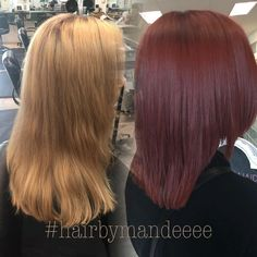❤️❤️❤️ #redhair #redken #redkencolor #styleyourstory #beforeandafter #hairmakeover #behindthechair #modernsalon #cilantrohairspa #hairbymandeeee #precisioncut #correctivecolor