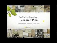 Crafting a Genealogy Research Plan ancestry.com
