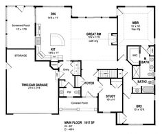 Possibility!  **Country Traditional House Plan 80310 Level One 1917 sq ft******* this one?