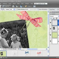 Photoshop Elements Digital Scrapbooking Tutorial {How To Digital Scrapbook}