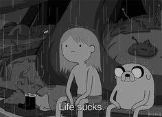 Life Sucks via GIPHY Adventure Time / Finn & Jake GIF