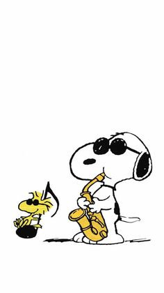 Snoopy with Mr Woodstock in movie All That JaZZ 𗀔𗀥🎷𗁭🐾🐾🐾🐾🐾𗁩❣️💛🕶👓🕶🎶🎼🎷🎵𗁲𗁭🐾🐾𗁩💛🙀 Snoopy Wallpaper, Funny Phone Wallpaper, Wallpaper Iphone Disney, Snoopy Tattoo, Snoopy E Woodstock, Peanuts Snoopy, Classic Cartoon Network Shows, Wallpaper Bonitos, Cute Backgrounds For Phones