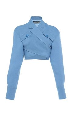 Collared Overlapping-Front Cropped Top by Jacquemus Kpop Fashion, Fashion 2017, Fashion Outfits, Fashion Trends, Fashion Styles, Fashion Boots, Stage Outfits, Mode Outfits, Mode Inspiration
