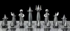 Rocket Chess set by Laura Cowan