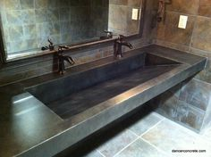 Concrete Bathroom Countertops | black-concrete-sink-countertops-polished-stained-concrete-for-bathroom ...